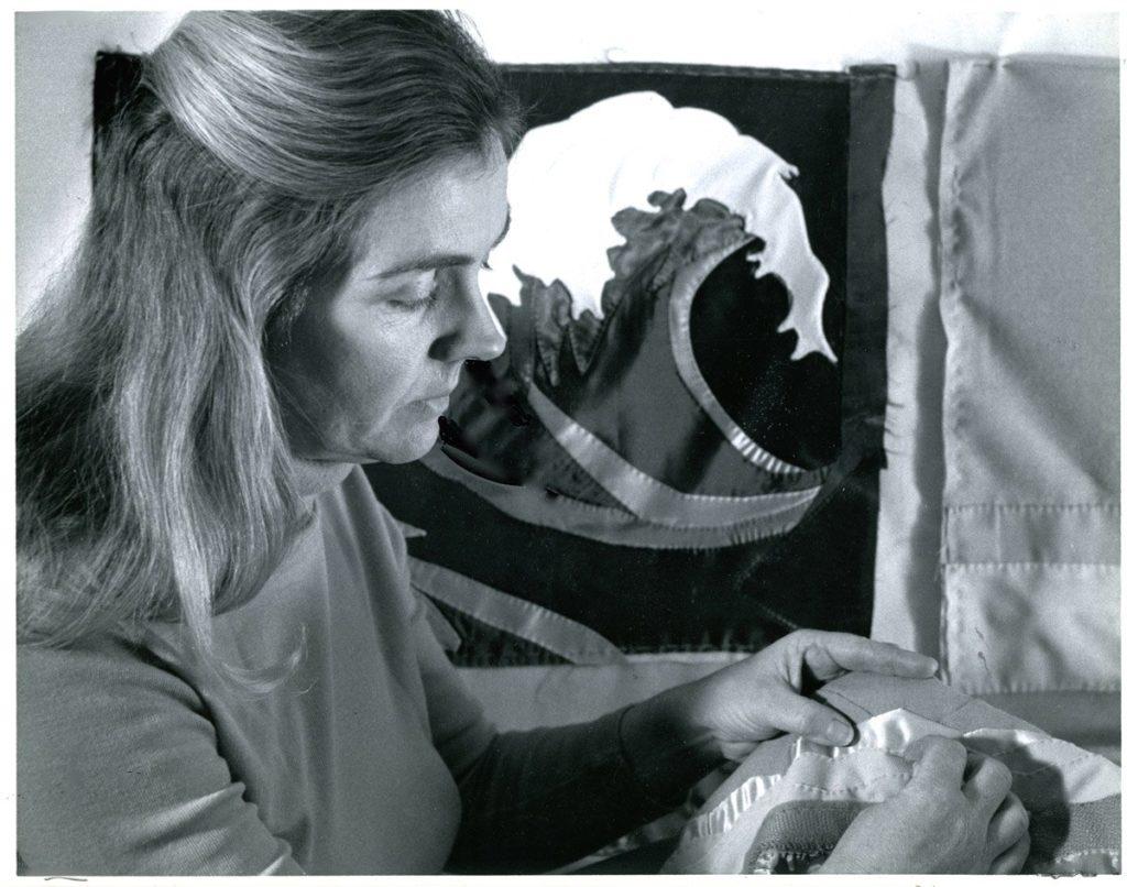 Beth Neville stitching banner detail