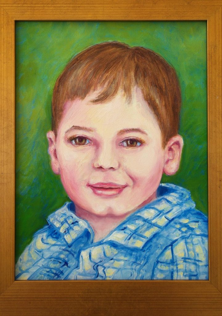 oil portrait of Tommy Chippendale