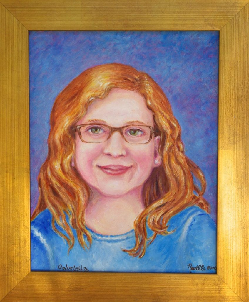 oil portrait entitled 'Memorial for Gabriella Rose Beals Reid'