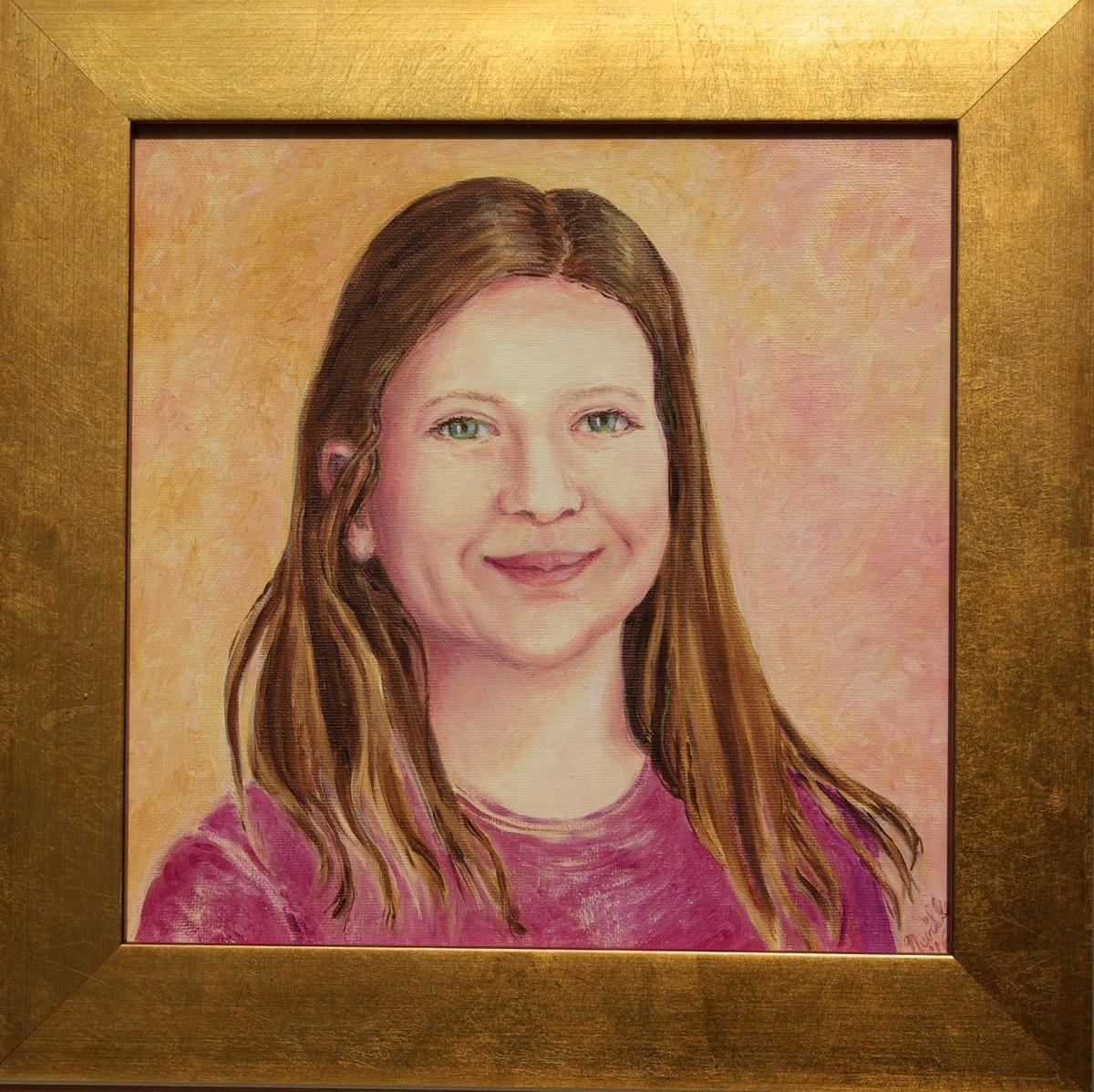 oil portrait of Gwendolyn Rothermel