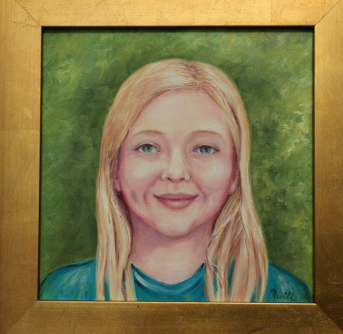 oil portrait of Mary Rothermel