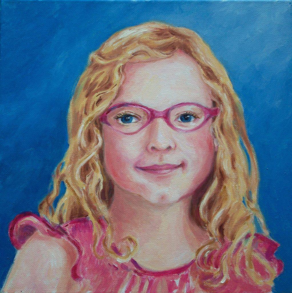 oil portrait of Evangeline Neville Rhody