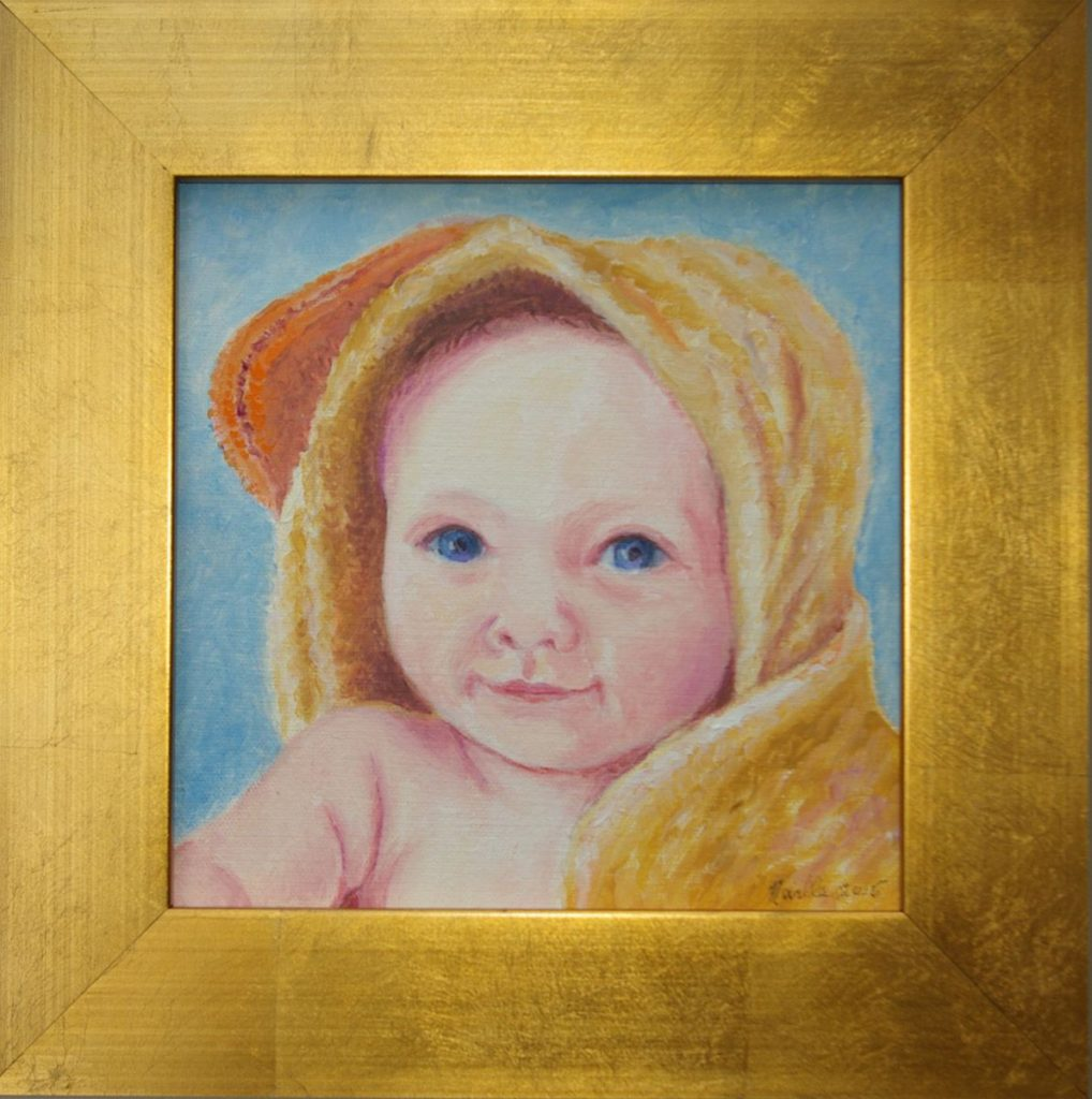 oil portrait of Billy Spiegle as a toddler