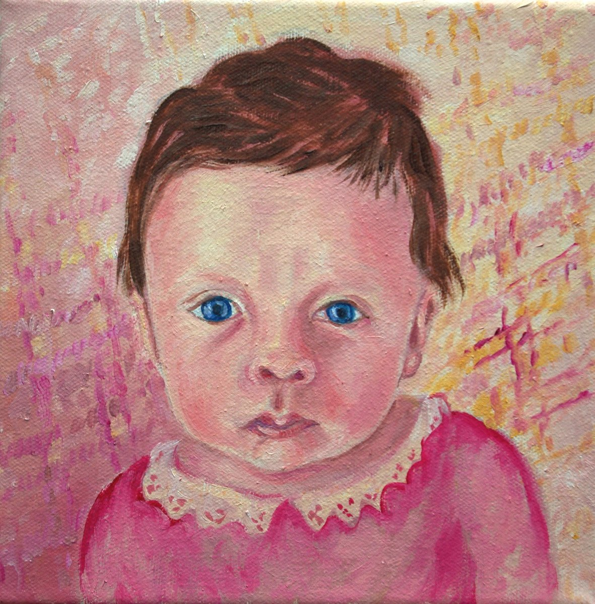 oil portrait of Mary Spiegel, one day old